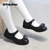 Wholesale shoes uniforms for sale - Group buy KALUPAO Children School Uniform Shoes Girls Dress Shoes bowtie Black Leather Pretty Comfortable For Kid Girls