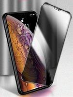 vidrio templado para iphone 4s al por mayor-Película de protección de pantalla de cristal templado de Prevención Peep para iPhone XS XR X 8 SE 6 con caja de venta al por menor Anti-Peep película templada