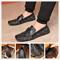 Wholesale red lace peep toe online - 2019 Gentleman Party Bussiness Dress Slip On Loafers Shoes Dandelion Sneaker Red Bottom Oxford Luxurious Men s Leisure Fashion Flat