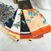 Wholesale winter scarf horse resale online - BEST GIFT Luxury Woman Fashion Horse Pattern Printing x130cm Large Square Scarf Silk Scarfs Scarves Headscarf Winter Muffler Pashmina Nec