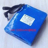 lipo pil hücreleri toptan satış-24 V 5500 mah Lityum Polimer Bateria 24 V 5.5ah 100 W Megafon Yazıcı için Lipo Pil Bateria 18650 Lityum Pil Güneş Pili