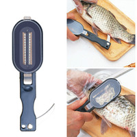 Wholesale fish skin remover tools resale online - New fish scale practice remover skin scraper knife scraper kitchen cleaner peeler fishing tools kitchenware peeler