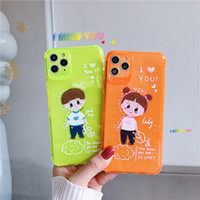 Wholesale note cases for girls online – custom Neon Fluorescent Color Phone Cases For iphone Pro Max XR X XS Max plus plus Back Cover Boy Girl Transparent Soft Cases