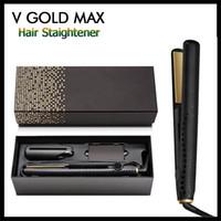 alisador de cabelo moda venda por atacado-styler Top Quality V ouro Max Cabelo Straightener profissional clássico ferramenta rápida de cabelo Ferro Styling de Moda de cabelo com Retail Box