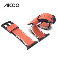 Wholesale classic leather band watches online - AICOO Replaces Leather Band for Apple Watch mm mm Fashion Edition Classic Edition Stainless Steel Cowhide Strap Retail Package