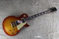 Wholesale les paul guitar resale online - High Quality Flame Maple Top G Les Standard Brown LP Paul Electric Guitar