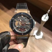 Wholesale watches classic tourbillon online - Classic NX LR Skeleton Black Dial Tourbillon Automatic Mechanical Mens watch Black Bezel Rose Gold Case Leather Strap Gents Watche