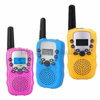 camping brinquedos para crianças venda por atacado-Handheld Walkie Talkie, Zooawa [2 Pcs] Crianças Ao Ar Livre Sem Fio Interphone 2-Way Rádio Durável Transceptor Brinquedo para Camping e Caminhadas