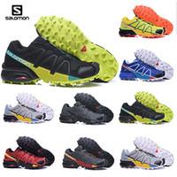 açık hava ayakkabıları kamp toptan satış-2019 solamon Hız çapraz 3 CS III koşu Ayakkabıları mens ayakkabı kros Siyah Gümüş Açık spor ayakkabı Kamp Yürüyüş ayakkabı boyutu 40-47