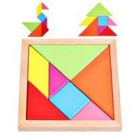 образовательные пазлы оптовых-Воспитание в детском саду интеллект строительный блок Танграм раннего образования имеет силу воли головоломки игрушка доска улучшить способность к ручному