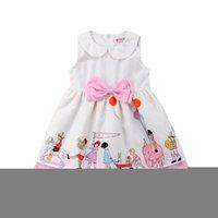 bebek kızları için yeni stil elbiseler toptan satış-Yeni Stil Yaz Yenidoğan Çocuklar Bebek Kız Dantel Ilmek Kolsuz Prenses Parti Elbise Sundress 6 m-5y