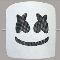 Wholesale halloween costume white mask resale online - DJ Marshmallow Band Marshmello Mask Smiling Face White Color Funny Party Masks Fashion Festival Costume Accessory ts E1