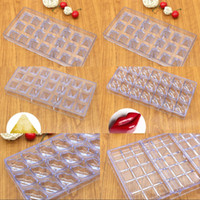 Wholesale transparent chocolate for sale - Group buy Plastic Chocolates Molds Lips Water Drop Olive Pyramid Modeling Baking Moulds Transparent Color Mold New Arrival mj L1