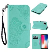 Wholesale cute chinese wallets for sale - Group buy Imprint Owl Leather Wallet Case For Samsung Note Pro Iphone inch New ID Card Slot Flower Lace Cute Flip Covers Strap