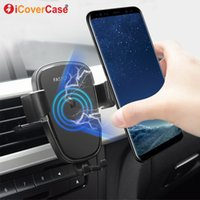 Wholesale qi wireless case for sale - Group buy Qi Car Charging Pad For Samsung Galaxy S10 S10e S10 S Plus S10 G Fast Wireless Charger Phone Holder Power Case Accessory