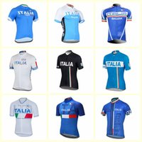 Wholesale italy cycling jersey resale online - ITALY team Cycling Short Sleeves jersey summer mens Breathable Quick dry bike Clothes MTB clothing Maillot U80713