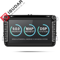 Wholesale dvd golf android resale online - Isudar Two Din Car Multimedia Player Android Auto Radio For Skoda Seat Volkswagen VW Passat b7 POLO GOLF DVD GPS Cores