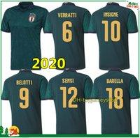 futebol italia venda por atacado-19 20 itália camisa de futebol 2019 2020 mens italy soccer jersey  VERRATTI BELOTTI INSIGNE IMMOBILE SENSI camisas de futebol football shirt