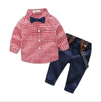 Wholesale pink store clothes resale online - 2019 New Store Perfect Quality Baby Children Sets Mixed Order Top Leather Long Sleeved Tee Pink Blue Green Clothes