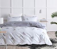roupa de cama impressa zebra venda por atacado-Conjuntos de Cama bonito Dos Desenhos Animados 3 pcs Zebra Árvore de Natal Impresso Capa de Edredão com Fronha Queen Size King