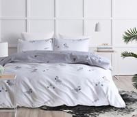 zebra bettwäsche könig großhandel-Niedliche Cartoon-Bettwäsche-Sets 3 Stück Zebra-Weihnachtsbaum gedruckt Bettbezug mit Kissenbezug Queen King Size
