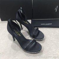 ingrosso pelle ambra-Nuovi sandali a spillo AMBER SANDALI IN PELLE VERNICE Scarpe di design di lusso Eleganti ed eleganti sandali da donna