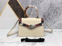 Wholesale imported cell phones resale online - Designer luxury handbag purse ladies shoulder bag designer Messenger bag Material top imported leather matching Snake head buckle s01