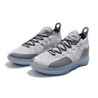 wholesale dealer 3b7c6 b3ae8 Chaussure de basket-ball femme kd 11 cool gris garçons filles jeunes enfants  Kevin Durant KD11 XI baskets baskets tennis avec boîte