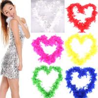 boas de penas para festas venda por atacado-Wedding Party Fancy Dress Feather Boa Moda 2M Decoração do feriado Pub Fluffy Pena lenços Costume Plume Scarf TTA2046-4