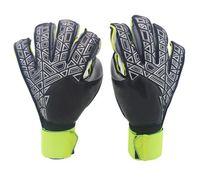 logo dedo al por mayor-¡Nuevo! A +++ Marca de calidad Logo AD Profesional Soccer Goal Keeper Gloves Finger Ptotection Top Latex Goalie Gloves for Men All Top Latex