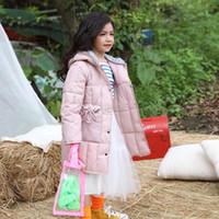 Wholesale korean kids jacket girl resale online - baby girl clothes Kids Children s Winter Coats Children s long down jacket cotton Korean hooded cotton suit girl clothes winter