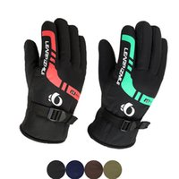 Wholesale glove heating resale online - Men s Ski Gloves Winter Outdoor Riding Thickening Windproof Waterproof Non slip Wear Resistant Motorcycle Cycling Gloves Heated