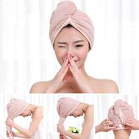 Magic Microfiber Hair Fast Drying Dryer Towel Bath Wrap Hat Quick Shower Cap Turban Towel Dry 4style LX1374