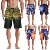 Swim Trunks Men Hawaiian Trunks Quick Dry Beach Surfing Running Swimming Pant Man Diving Long Swimsuit