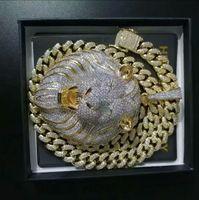 Wholesale lion chains resale online - Mens Jewelry Hip Hop Iced Out Pendant Luxury Designer Necklace Bling Diamond Cuban Link Chain Big Pendants Lion Animal Rapper Accessories34