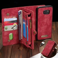 Wholesale phone wallet case magnet for sale – best Phone Case For Fundas Samsung Galaxy S7 Edge S8 S9 S10 Plus S10e Note Case Multi functional Wallet Leather Magnet Back Cover J190629