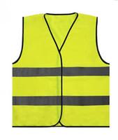 ingrosso maglia di lavoro giallo-Francia Giubbotto catarifrangente Outdoor Warning Parata riflettente Gilet Visibilità Traffico di lavoro Gilet Giallo Abbigliamento sicurezza T-shirt GGA1918