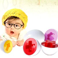 Wholesale plastic kids egg shapes for sale - Group buy Baby Training Toy Colorized Egg Shape Smart Matching Shape Smart Matching Eggs Pairing Puzzle Toy Kid Toy Pair Logical Smart Blocks