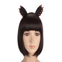 Wholesale hair bands stoned resale online - Women Girl Headbands Halloween Black Felt Animal Ears Devil Wings Bat Stone Cosplay Gothic Hairband Hair Band Hoop Accessories