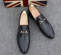 sapatos de renda branca pérola venda por atacado-Sapatos masculinos Marca de Couro Genuíno Casual Oxfords Flats Sapatos de Condução Dos Homens Mocassins Sapatos Italianos Sapatos para Homens 37-45