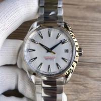 стальные браслеты оптовых-41.5 мм механизм с автоподзаводом Браслет из нержавеющей стали Aqua Terra 150 м Master MAN WATCH наручные часы