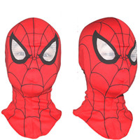 ingrosso maschere animali-Super Cool Spiderman Mask Cosplay Hood Maschere Full Head Maschere di Halloween per adulti e bambini Costumi animali