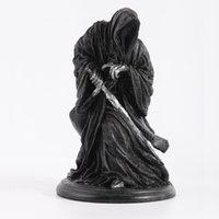 mascote rei venda por atacado-Ringwraith O Senhor Dos Anéis Cavaleiro Das Trevas Cavaleiro Das Trevas Preto Estátua Figuras de Ação Brinquedo Modelo de Jogo Criativo Decoração Mascote