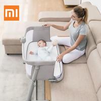 bebek yatağı karyolası toptan satış-Xiaomi Bebek Bakım Yatağı Mobilya Ile Bedbell Taşınabilir Bebek Seyahat Uyuyan Karyolası Uyuyan Nefes Katlanır Beşik Yürüyor Beşiği
