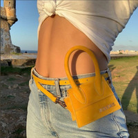 Wholesale mini white color handbag resale online - 2019 Fashion Luxury Solid Color Handbags Women Designer Mini Pu Leather Handbags Textured High Quality Shoulder Crossbody Bag SH190920