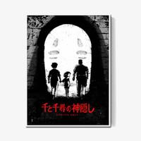 gesicht malerei für kinder großhandel-Chihiro Miyazaki, Chihuaho, Keine Gesichtsbilder Auf Leinwand Moderne Kunst Dekorative Wandbilder Kinderzimmer Dekoration