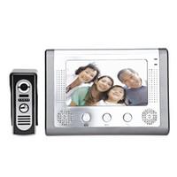 lcd verdrahtete häusliche sicherheit großhandel-SY801M11 7 Zoll TFT-Bildschirm Freisprecheinrichtung Video Interphone Türklingel Intercom