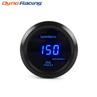 Wholesale psi cars resale online - Dynoracing quot mm Digital display Car Oil pressure press gauge PSI Blue Led Oil press meter Car meter