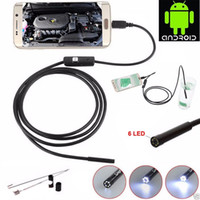 lente de endoscopio al por mayor-7mm Lens 1M / 1.5M / 2MCable Endoscopio Mini USB Inspección Borescope Cámara para teléfonos Android y PC