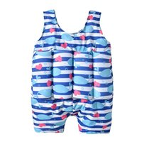 Wholesale swimwear for children boy resale online - 2 Years Kids Children Floating Foam Swimwear Floating Safety Swimsuit Anti drowning Swimming Pool Suit For Boys Girls Infant